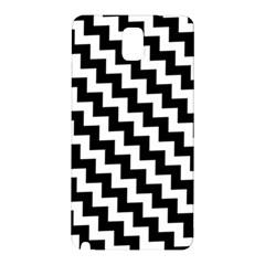 Black And White Zigzag Samsung Galaxy Note 3 N9005 Hardshell Back Case by ElenaIndolfiStyle