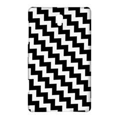Black And White Zigzag Samsung Galaxy Tab S (8 4 ) Hardshell Case  by ElenaIndolfiStyle