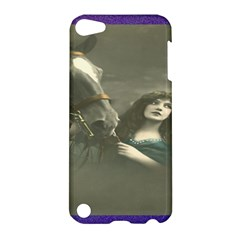 Vintage Woman With Horse Apple Ipod Touch 5 Hardshell Case by LokisStuffnMore