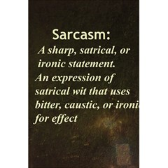 Sarcasm  5.5  x 8.5  Notebooks by LokisStuffnMore