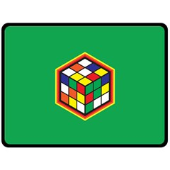 Rubik s Cube Fleece Blanket (Extra Large) by Contest1630545