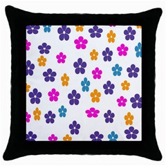Candy Flowers Throw Pillow Cases (Black) by FashionMeNowwStyle2