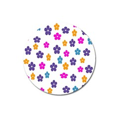 Candy Flowers Magnet 3  (round) by FashionMeNowwStyle2