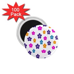 Candy Flowers 1 75  Magnets (100 Pack)  by designmenowwstyle