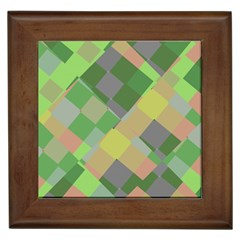 Squares And Other Shapes Framed Tile by LalyLauraFLM