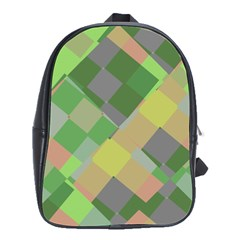 Squares and other shapes School Bag (Large) by LalyLauraFLM
