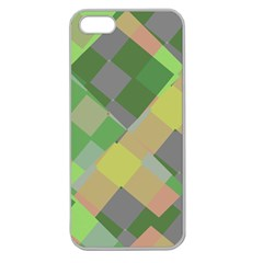 Squares And Other Shapes Apple Seamless Iphone 5 Case (clear) by LalyLauraFLM