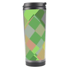 Squares And Other Shapes Travel Tumbler by LalyLauraFLM