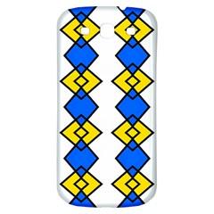 Blue Yellow Rhombus Pattern Samsung Galaxy S3 S Iii Classic Hardshell Back Case by LalyLauraFLM