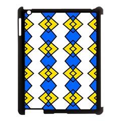 Blue Yellow Rhombus Pattern Apple Ipad 3/4 Case (black) by LalyLauraFLM