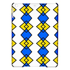 Blue Yellow Rhombus Pattern Apple Ipad Air Hardshell Case by LalyLauraFLM