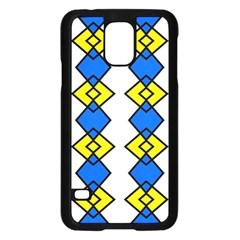 Blue yellow rhombus patternSamsung Galaxy S5 Case by LalyLauraFLM