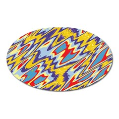 Colorful Chaos Magnet (oval) by LalyLauraFLM