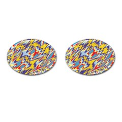Colorful Chaos Cufflinks (oval) by LalyLauraFLM