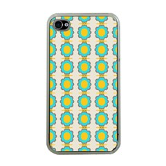 Blue Flowers Pattern Apple Iphone 4 Case (clear) by LalyLauraFLM