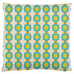 Blue Flowers Pattern Large Cushion Case (two Sides) by LalyLauraFLM