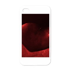 Red Heart Apple Iphone 4 Case (white) by timelessartoncanvas