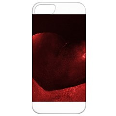 Red Heart Apple Iphone 5 Classic Hardshell Case by timelessartoncanvas