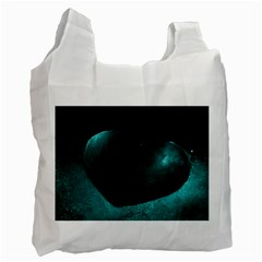Teal Heart Recycle Bag (Two Side)  by timelessartoncanvas