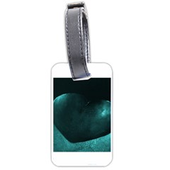 Teal Heart Luggage Tags (two Sides) by timelessartoncanvas