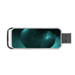 Teal Heart Portable Usb Flash (one Side) by timelessartoncanvas