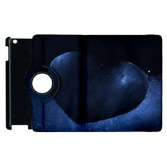 Blue Heart Collection Apple Ipad 2 Flip 360 Case by timelessartoncanvas