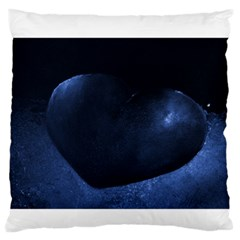 Blue Heart Collection Standard Flano Cushion Cases (Two Sides)  by timelessartoncanvas