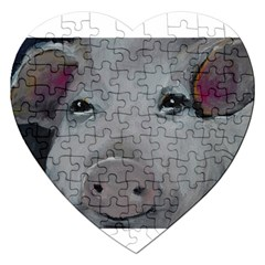 Piggy No  1 Jigsaw Puzzle (heart) by timelessartoncanvas