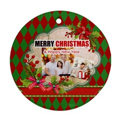 Xmas By Xmas   Round Ornament (two Sides)   Nqtpfqhw987a   Www Artscow Com Back