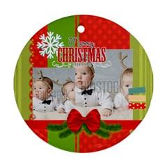 Xmas By Xmas   Round Ornament (two Sides)   Zozve3mu1z1s   Www Artscow Com Front