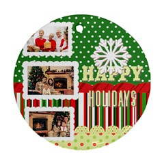 Xmas By Xmas   Round Ornament (two Sides)   Sp8mmn198a72   Www Artscow Com Front