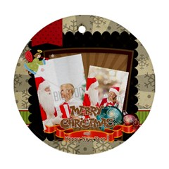 Xmas By Xmas   Round Ornament (two Sides)   7je7fkfdfjs7   Www Artscow Com Back
