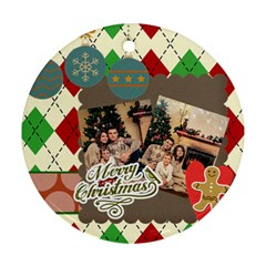 Xmas By Xmas   Round Ornament (two Sides)   5vuxppe51zn2   Www Artscow Com Back