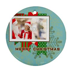 Xmas By Xmas   Round Ornament (two Sides)   Q5b7qhjanh6f   Www Artscow Com Front