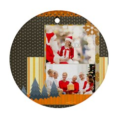 Xmas By Xmas   Round Ornament (two Sides)   49oxl3bxqb7c   Www Artscow Com Back