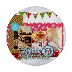 Xmas By Xmas   Round Ornament (two Sides)   2piv39ts3xk2   Www Artscow Com Back