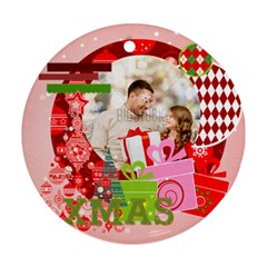 Xmas By Xmas   Round Ornament (two Sides)   Z94wea4h6u0g   Www Artscow Com Front