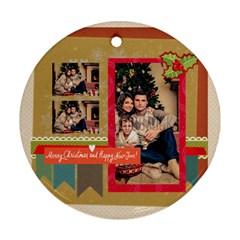 Xmas By Xmas   Round Ornament (two Sides)   Ya7abdxsjwnm   Www Artscow Com Back
