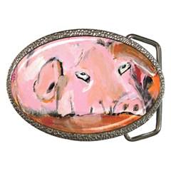 Piggy No 3 Belt Buckles by timelessartoncanvas