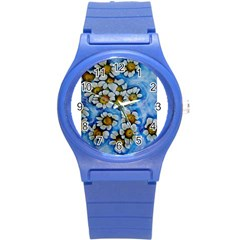 Floating On Air Round Plastic Sport Watch (s) by timelessartoncanvas