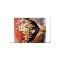 Red Mask Magnet (name Card) by timelessartoncanvas