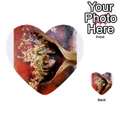 Red Mask Multi Purpose Cards (heart)  by timelessartoncanvas