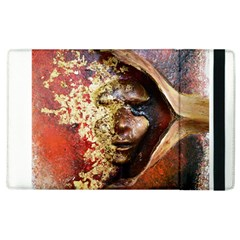 Red Mask Apple iPad 3/4 Flip Case by timelessartoncanvas