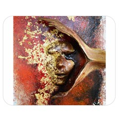 Red Mask Double Sided Flano Blanket (medium)  by timelessartoncanvas