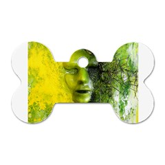 Green Mask Dog Tag Bone (two Sides) by timelessartoncanvas
