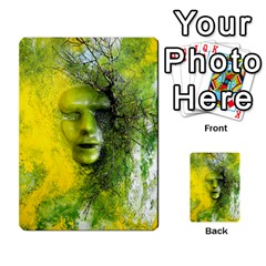 Green Mask Multi Purpose Cards (rectangle)  by timelessartoncanvas