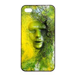 Green Mask Apple iPhone 4/4s Seamless Case (Black) by timelessartoncanvas