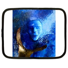 BLue Mask Netbook Case (XL)  by timelessartoncanvas