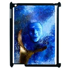 BLue Mask Apple iPad 2 Case (Black) by timelessartoncanvas