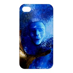 Blue Mask Apple Iphone 4/4s Premium Hardshell Case by timelessartoncanvas